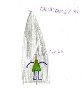 dessin comparaison enfant et menhir