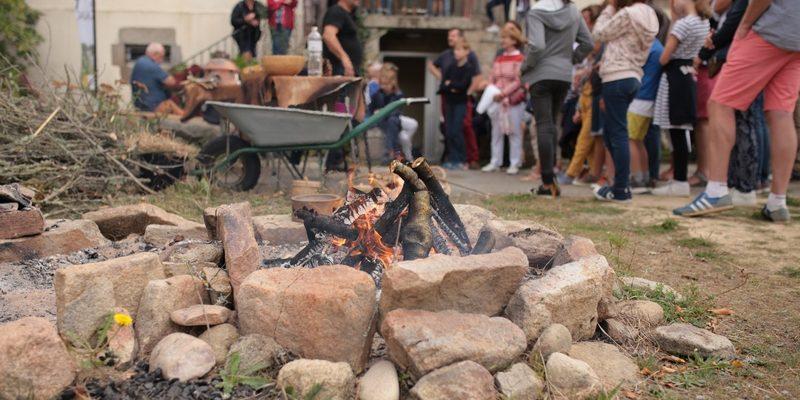 Distillation à sec de l'écorce de bouleau